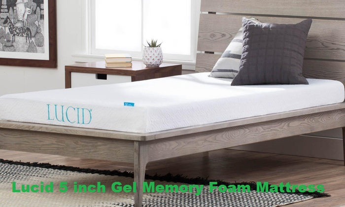 Lucid 5inch Gel Memory Foam Mattress